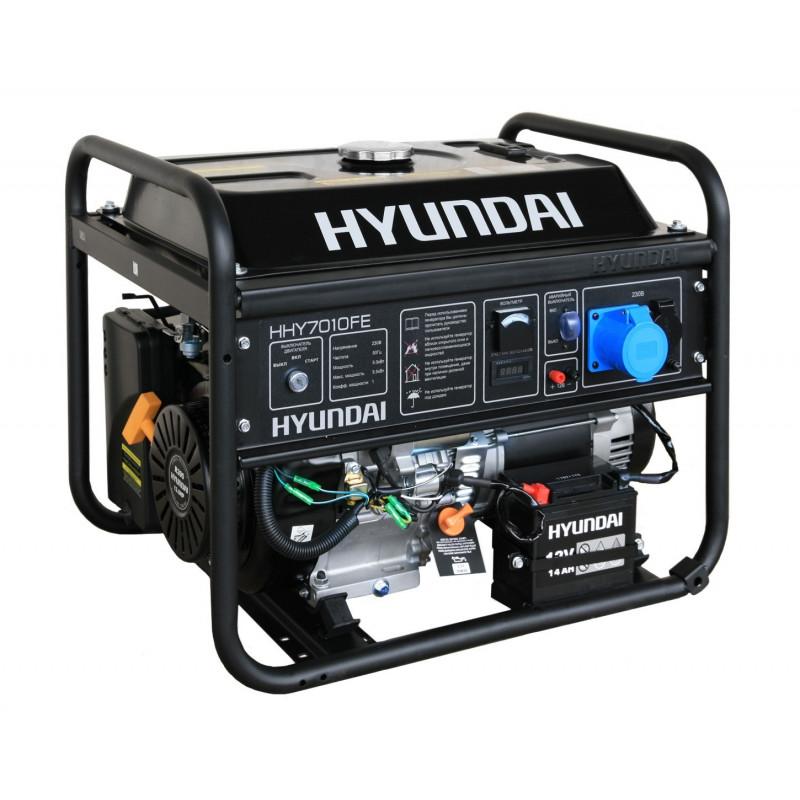Генератор Hyundai HHY 7010 FE | 5/5,5 кВт (Корея)