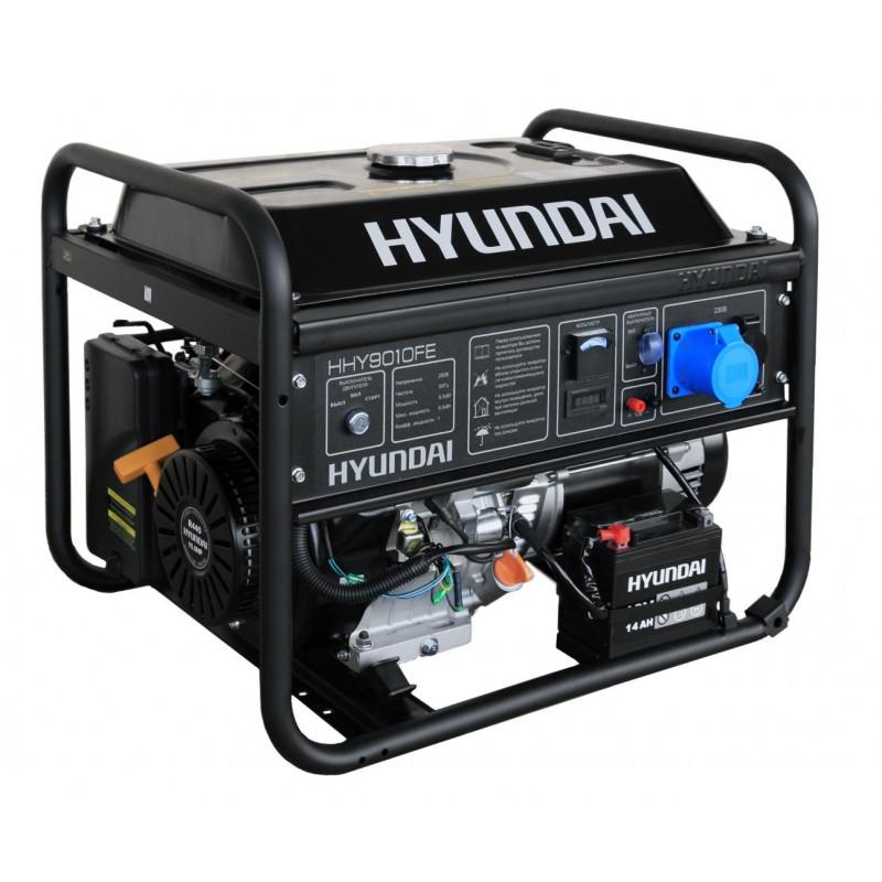 Генератор Hyundai HHY 9010 FE | 6/6,5 кВт (Корея)