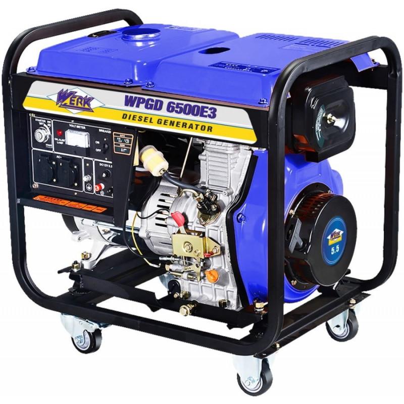 Генератор Werk WPGD6500E3 | 5/5.5 кВт (Кiтай)
