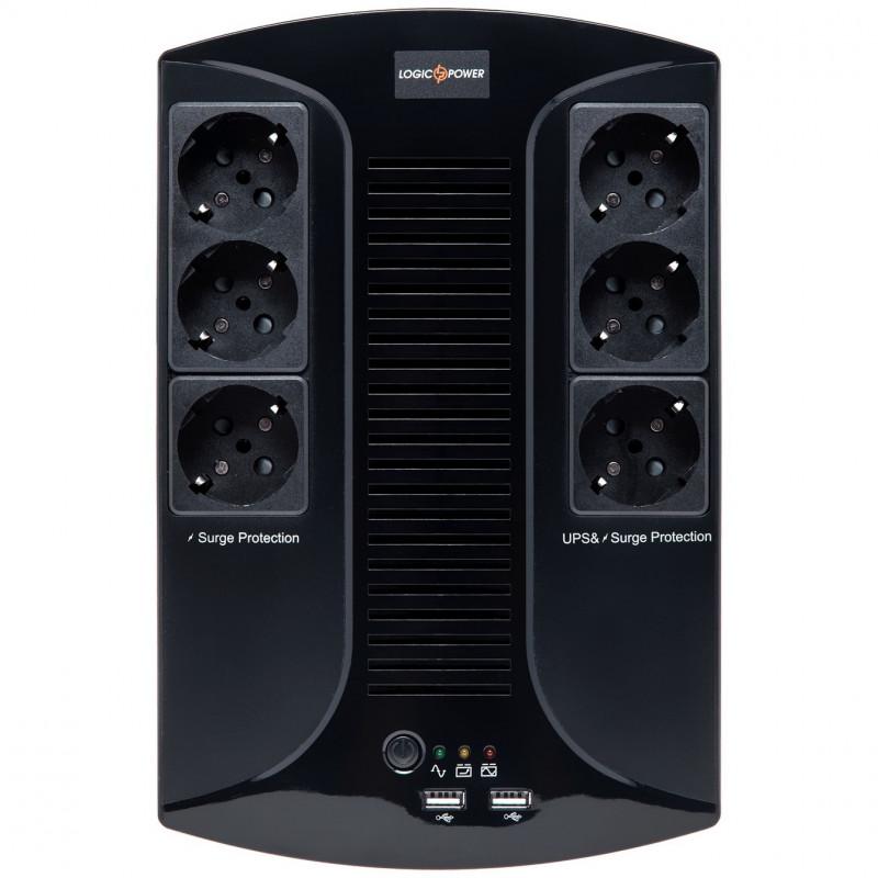 ИБП LogicPower LP 650VA-6PS | generator.ua | 0.39 кВт Китай