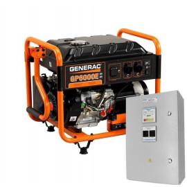 Генератор Generac GP 6000E и АВР АГ 200 32 А