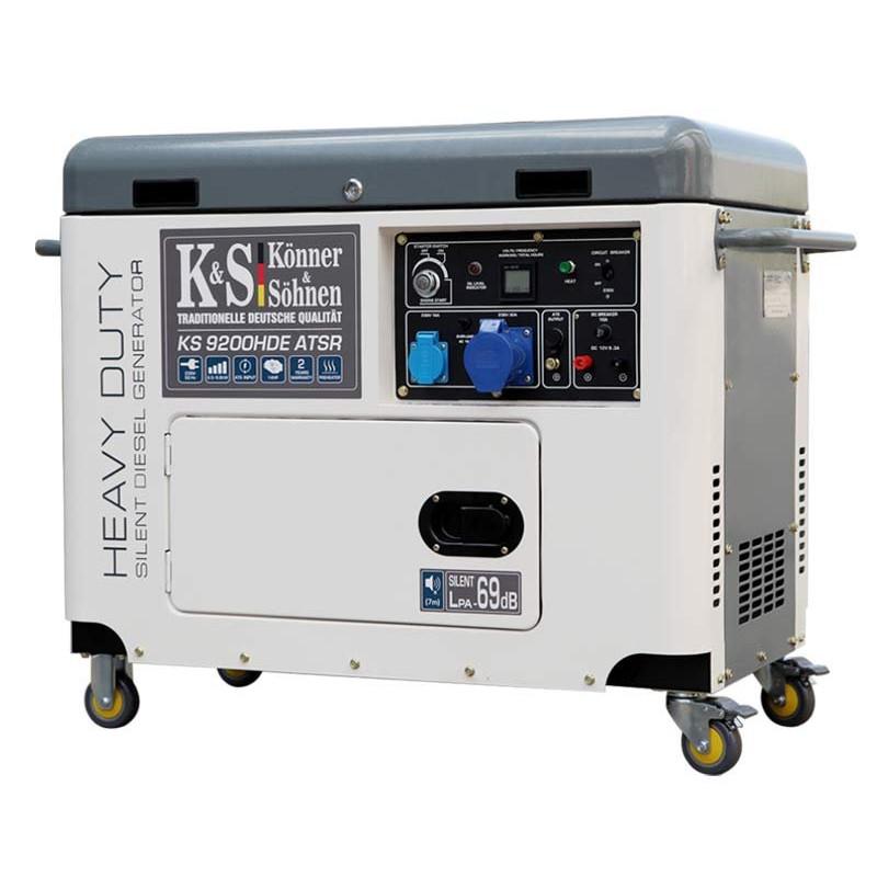 Генератор Konner&Sohner KS 9200HDE atsR   6,5/6,8 кВт (Германия)