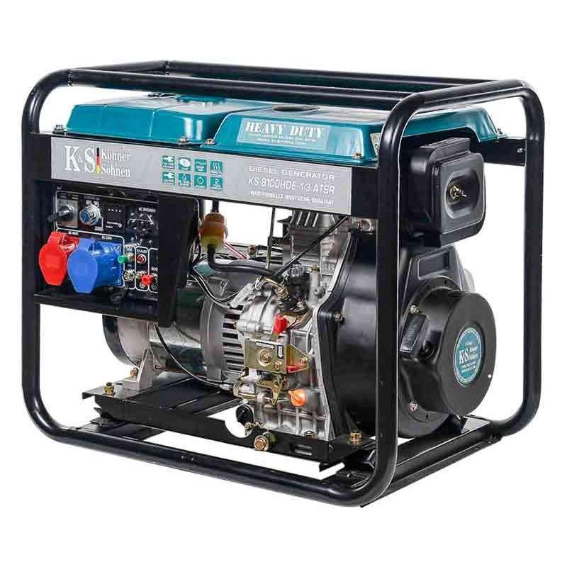 Генератор Konner&Sohnen 8102HDE-1/3 atsR   6/6,5 кВт (Германия)