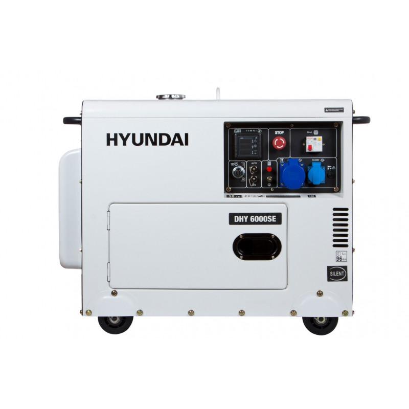 Генератор Hyundai DHY 6000 SE | 5/5,5 кВт (Корея)