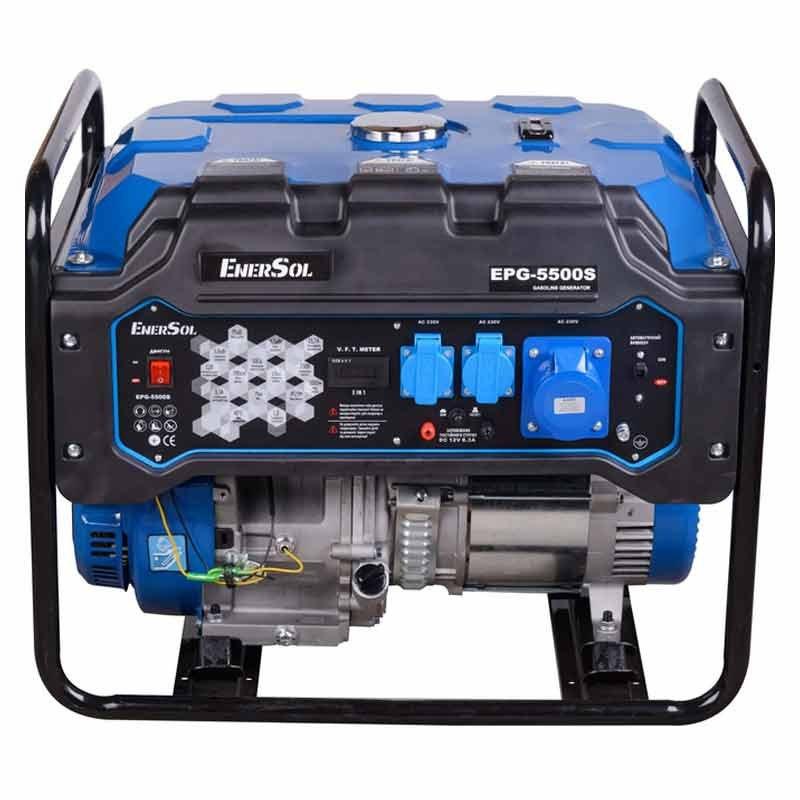 Генератор двухтопливный EnerSol EPG-5500SE  5/5,5 кВт (Китай)