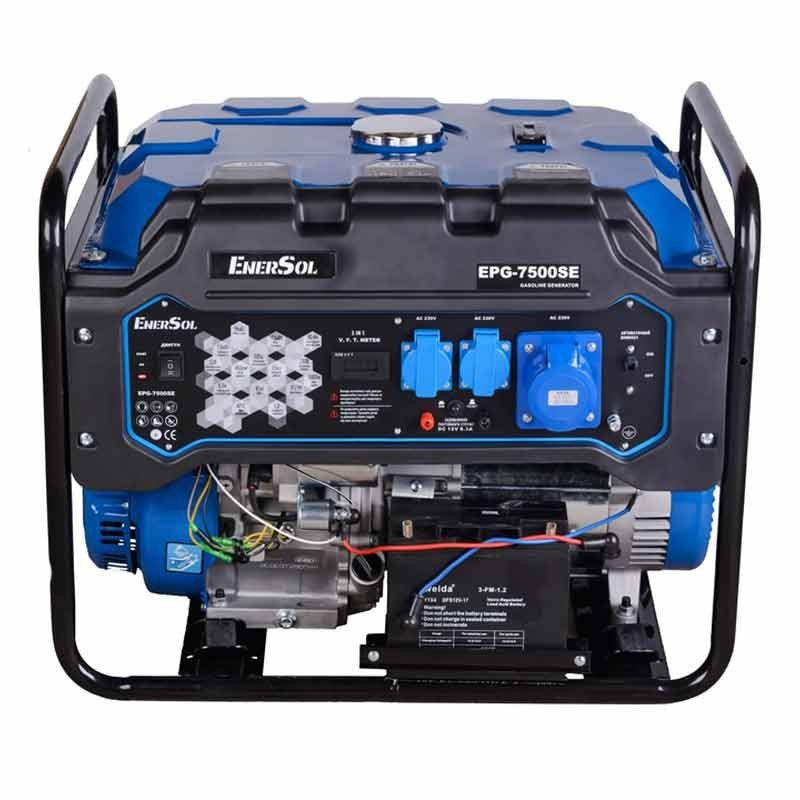 Генератор двухтопливный EnerSol EPG-7500SE | 7/7,5 кВт (Китай)