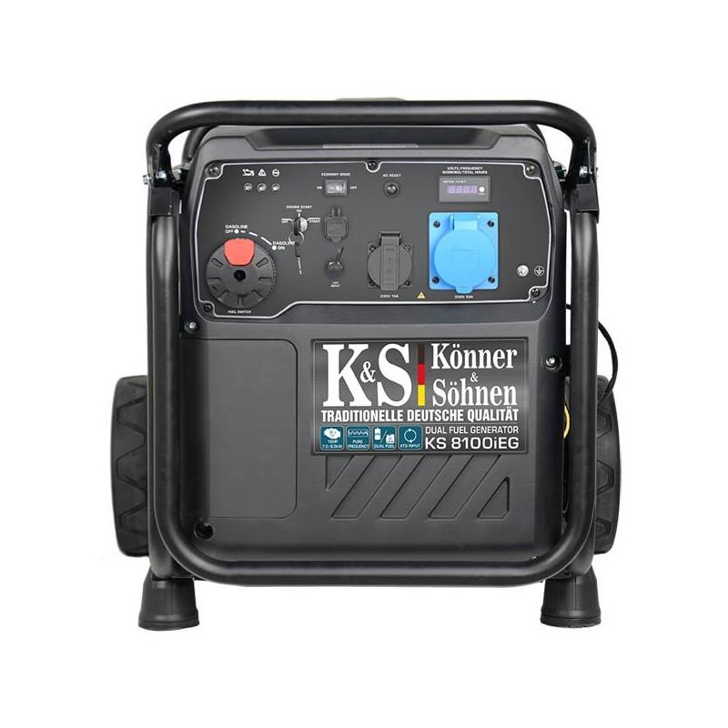 Генератор инверторный Konner&Sohner KS 8100iEG | 7,2/8 кВт (Германия)