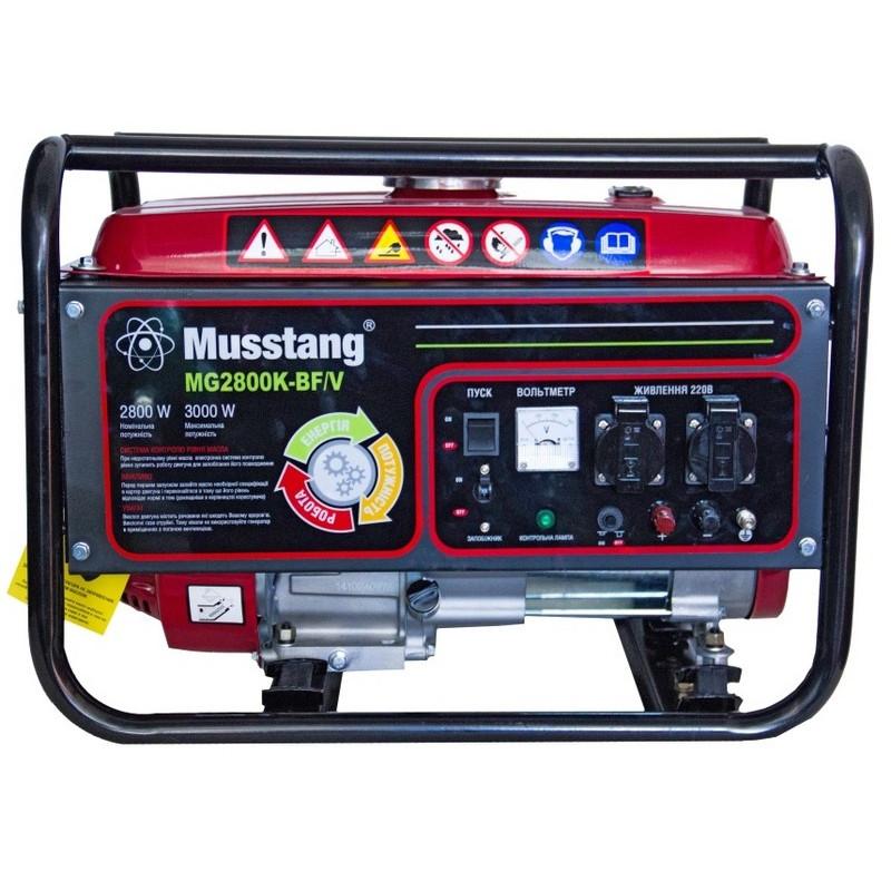 Генератор Musstang MG2800K-BF/V BG | 2,8/3 кВт (Китай)