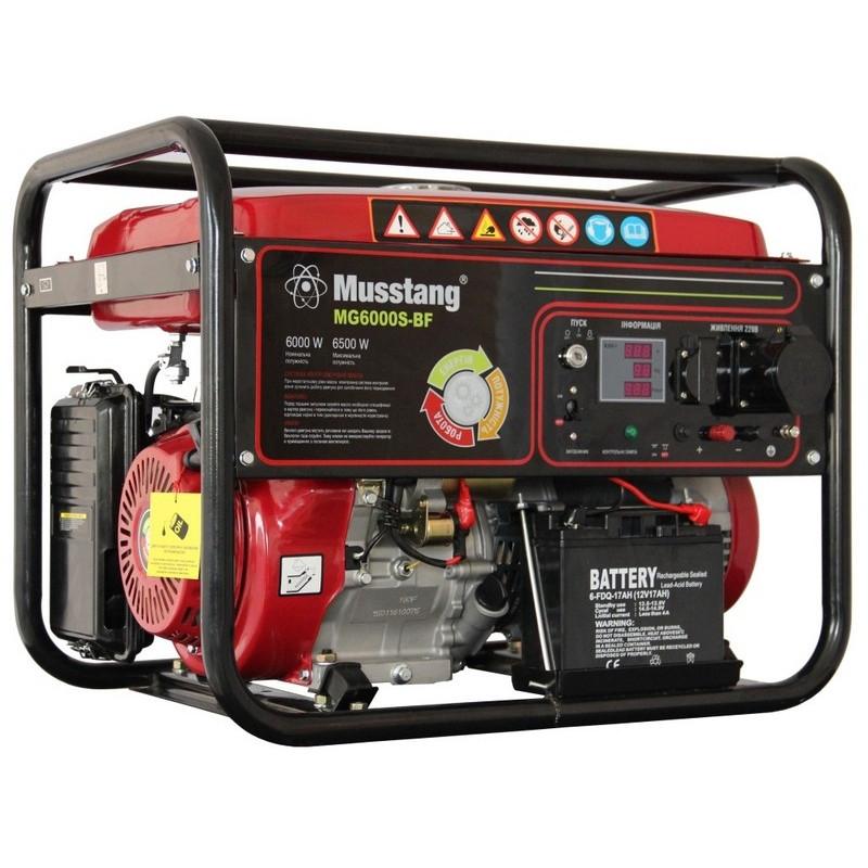 Генератор Musstang MG6000S-BF/32 A - BG | 6/6,5 кВт (Китай)
