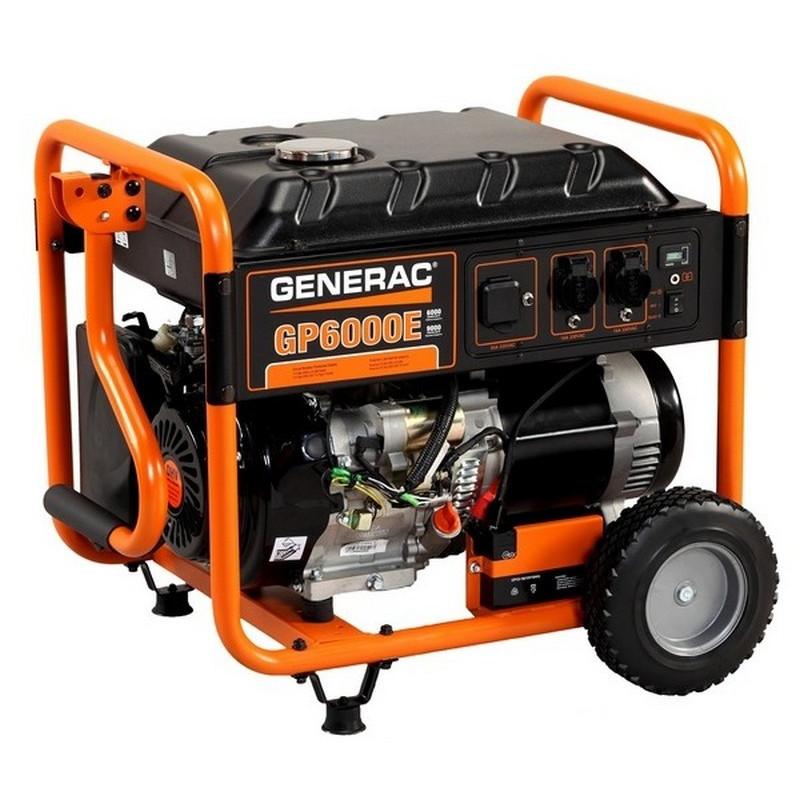 Генератор Generac GP 6000 E | 6/7,2 кВт (США)