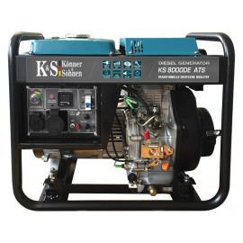 Генератор Konner&Sohnen 8000DE ATS | 6/6,5 кВт (Германия)